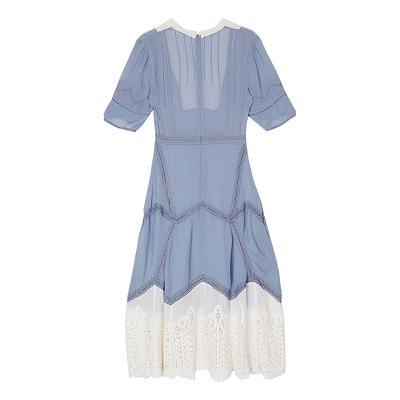 romantic lace dress blue